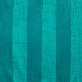 Soho - Peacock - Striped fabric made from polyester in turquoise and aquamarine colours