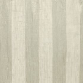 Soho - Rattan - Vertical stripes of putty and cream colours making up a regular pattern on polyester fabric