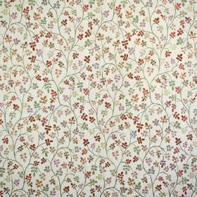 Padua - Paprika - Shades of brown and grey making up the tiny pattern on this cream coloured fabric