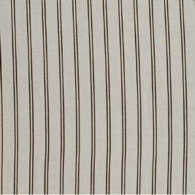 Arizona - Zink - A repeated pattern of black stripes running vertically down beige coloured hard wearing fabric