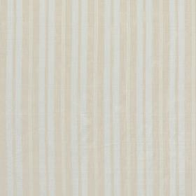 Cavalieri - Greige - A repeated striped pattern in two different shades of cream on a white hard wearing fabric background