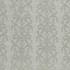 La Quinta - Moon - Two shades of grey making up the pattern of ornate swirls on this ridged hard wearing fabric