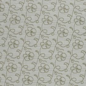 Naples - Oyster - Grey lines curving into floral shapes over a pale grey background made from hard wearing fabric
