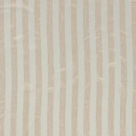 Biltmore - Sesame - Cream and off-white coloured stripes of equal widths printed on this hard wearing fabric