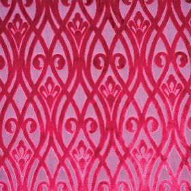Sofia - Rosa - A shocking pink pattern of overlapping wavy lines and swirls against a bubblegum pink polyester fabric background