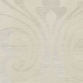 Camden Stripe - White - Large, very subtle, elegant patterns covering polyester & cotton blend fabric in two very similar shades of pearl wh