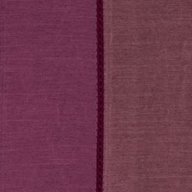 Festival - Fuchsia - A thin aubergine coloured stripe on a background of viscose and polyester blend fabric in two similar shades of purple