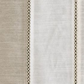 Festival - Natural - Black and light shades of grey making up a viscose and polyester fabric with thin patterned lines and wide solid stripe