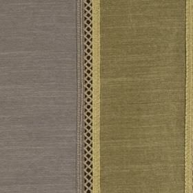 Festival - Olive - Solid and patterned stripes creating a wide and thin design on viscose and polyester fabric in grey and khaki colours