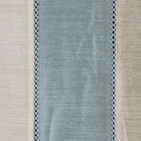 Festival - Sky - Classic, light shades of blue & grey making up an elegant solid & patterned stripe design on viscose & polyester fabric