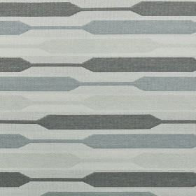 Geo - Grey - Four shades of grey making up a contemporary widening and narrowing stripe design on polyester, cotton and viscose fabric