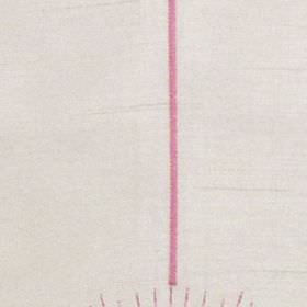 Halo - Fuchsia - Viscose embroidery creating a bright candy pink coloured vertical stripe onpaper white 100% polyester fabric