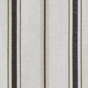 Harbour Stripe - Charcoal - Vertically striped 100% cotton fabric, with a simple, regular design in several different dark and light shades