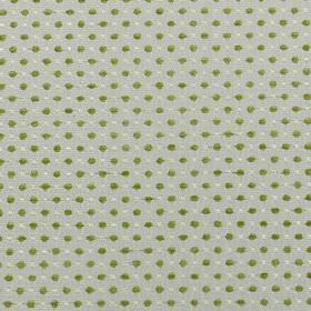 Jakarta - Olive - Olive green, light grey and off-white coloured polyester and acrylic fabric, with a small, closely spaced polka dot design