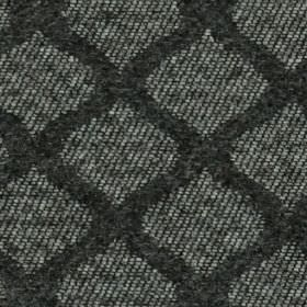 Lewis - Charcoal - A mottled, speckled dark and light grey 100% polyester fabric, with wavy lines making up a dark grey grid style dessign