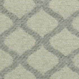 Lewis - Dove - Pale grey and light blue-grey coloured 100% polyester fabric, patterned with a grid style design made up of wavy lines