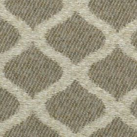 Lewis - Natural - Several shades of grey going into a slightly mottled grid style pattern made up of wavy lines on 100% polyester fabric