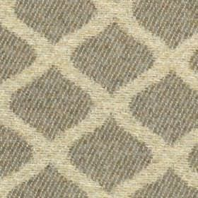 Lewis - Stone - Subtly striped iron grey and mottled cream-grey coloured wavy lines making up a grid style design on 100% polyester fabric