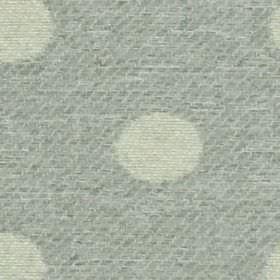 Oban - Dove - Very subtly striped blue-grey coloured 100% polyester fabric, with a stylish very pale grey coloured polka dot design