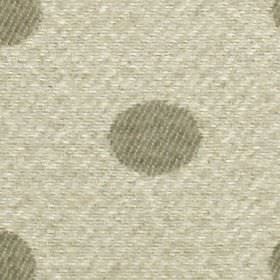 Oban - Natural - 100% polyester fabric featuring a simple polka dot design in pale grey and iron grey colours