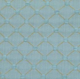 Omega - Duckegg - Fabric made from polyester, cotton and acrylic in sky blue and light grey, with small squares and a thin diagonal grid