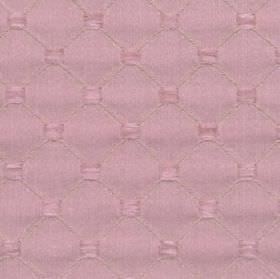 Omega - Pink - Lilac coloured polyester, cotton and acrylic blend fabric featuring a subtle design of squares and a thin diagonal grid