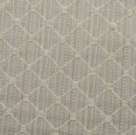 Omega - Stone - Various light shades of grey making up a subtle square and thin diagonal grid design on polyester, cotton and acrylic fabric