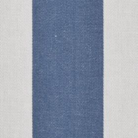 Pier Stripe - Chambray - Block stripes in denim blue and pale cloud grey running vertically down fabric made from 100% cotton