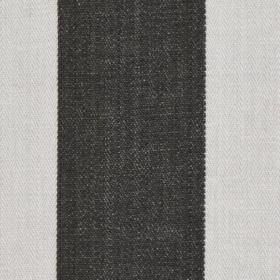 Pier Stripe - Charcoal - Charcoal and very pale grey-white coloured 100% cotton fabric, featuring a simple vertical block stripe design