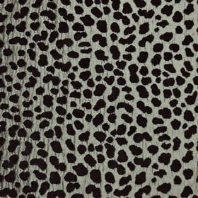 Serengeti - Silver - Polyester and viscose blend fabric made in black and silver-grey, featuring a random splodge pattern