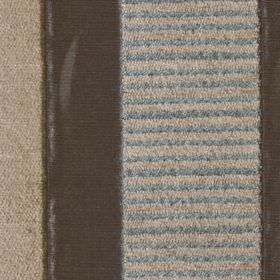 Taipei II - Duckegg - A vertical design of solid and striped bands on polyester and viscose fabric induck egg blue, dark grey and light gre