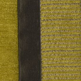 Taipei II - Lime - Polyester and viscose blend fabric made with solid and striped vertical bands in very dark grey and green-gold colours