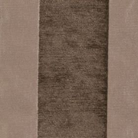 Taipei II - Natural - Two different dark shades of grey making up a wide vertical stripe design on fabric blended from polyester and viscose