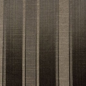 Wordsworth - Charcoal - Charcoal, light grey and dark brown polyester and cotton fabric, with vertical stripes and rows of thin horizontal l