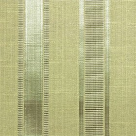 Wordsworth - Sage - Fabric made from polyester & cotton, featuring columns of thin horizontal lines in two very similar pale shades of green