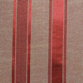 Wordsworth - Scarlet - Vertical stripes and thin horizontal lines made in pepper red and light red-grey on polyester and cotton blend fabric