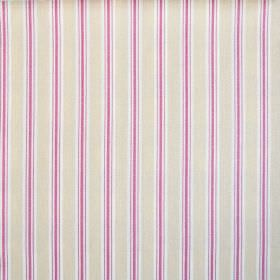 Baystripe - Sorbet - Pale cream, white and hot pink striped 100% cotton fabric