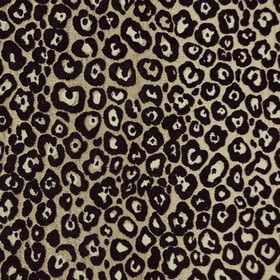 Zambia - Bronze - Black and white animal print style spots scattered over a pewter coloured polyester and viscose blend fabric background