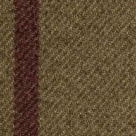 Arundel - Bordeaux - A dark grape coloured vertical stripe woven into dark brown coloured polyester and cotton blend fabric
