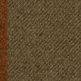 Arundel - Burnt Orange - Dark shades of brown and orange making up a woven polyester and cotton blend fabric, featuring a vertical stripe