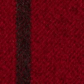 Arundel - Red - Bold claret and black coloured polyester and cotton blend fabric, woven with a thin vertical stripe