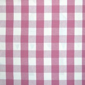 Breeze - Sorbet - Fabric made entirely from checked cotton in hot pink, light purple and bright white