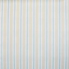 Baystripe - Harbour Blue - Striped fabric made from 100% cotton in pale shades of blue, cream and white