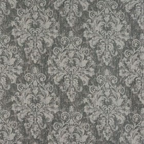 Chateau - Mist - Polyester and viscose blend fabric made in two different shades of grey, with a large, slightly mottled, subtle pattern