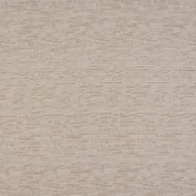 Delta - Oatmeal - Vertical and horizontal streaks making up a rough grid pattern in pale grey and beige colours on 100% polyester fabric