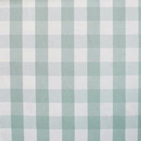 Breeze - Harbour Blue - 100% cotton fabric with a very pale grey, duck egg blue and white simple checked pattern