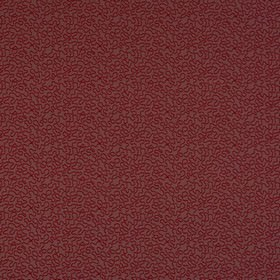 Harmony - Rosso - Deep burgundy coloured wiggly lines making a fun pattern on cotton, viscose & polyester blend fabric in dark brown-grey