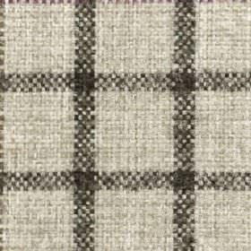 Kintyre FR - Heather - Dark grey and very pale grey-white coloured fabric made from 100% polyester, featuring simple grid style checks
