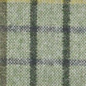 Kintyre FR - Pampass - Navy, beige and two shades of grey making up a simple checked design on fabric made from 100% polyester