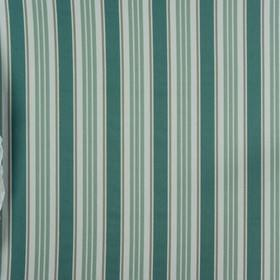 Princeton - Duckegg - Duck egg blue, grey and teal vertical stripes patterned with subtle chevrons and zigzags on off-white 100% cotton fabr
